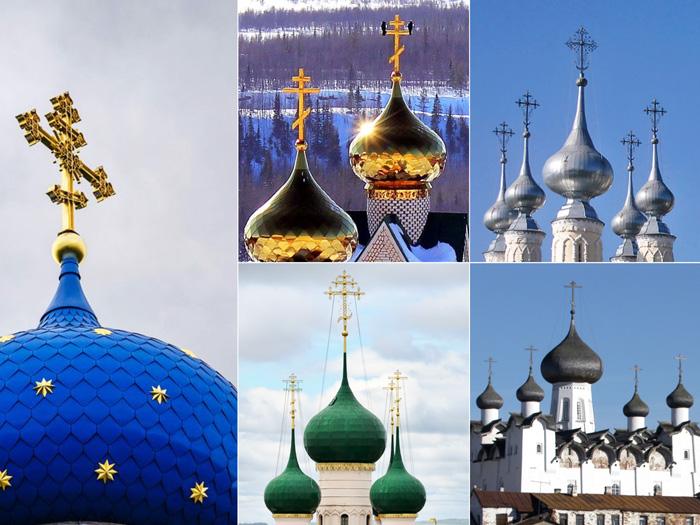 رنگ گنبد کلیساهای ارتودوکس روسیه